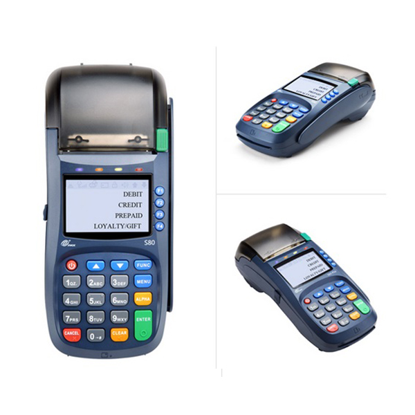 Pax S80<br>The S80 comes with inbuilt contactless and powerful ARM11 processor, enabling support for multiple payment and value-added applications, making this countertop terminal one of the most reliable in the world.